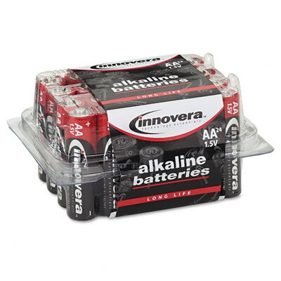 Innovera® Alkaline Battery, Aa, 24/Pack