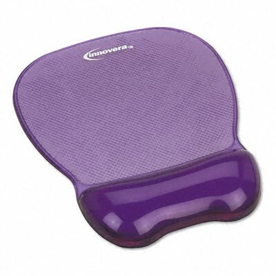 Innovera® Gel Mouse Pad with Wrist Rest, Nonskid Base, 8-1/4 X 9-5/8
