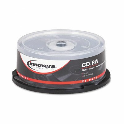 Innovera® CD-RW Disc, 25/Pack