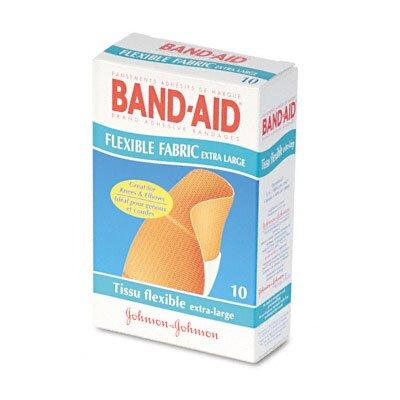 Johnson & Johnson Flexible Fabric Extra Large Adhesive Bandages, 1-1/4 x 4, 10 per Box