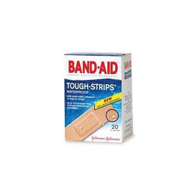 "Johnson & Johnson X 3 1/4"" BAND-AID® Touch Strips™ Waterproof Bandages (20 Per Box)"
