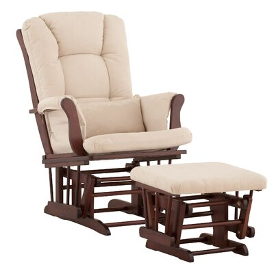 Storkcraft Custom Tuscany Glider, Ottoman and Pillow