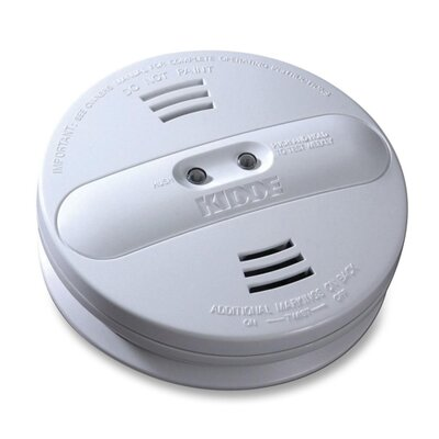Kidde Fire and Safety Smoke Alarm, Photo/Ion, Dual Sensor, Batt Opr, White