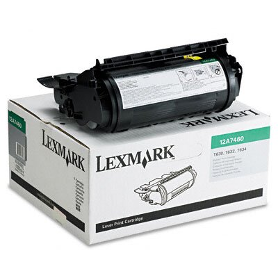 Lexmark International 12A7460 Toner Cartridge, 5000 Page-Yield