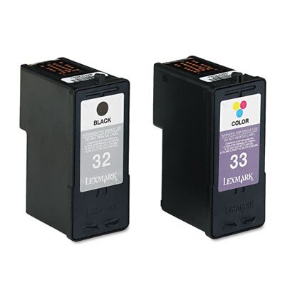 Lexmark International (32, 33) Ink Cartridge, 2/Pack