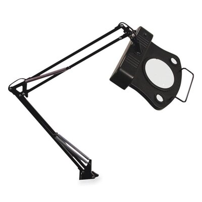 "Ledu Corporation Magnifier Lamp, 30"" Reach, On/Off Rocker Switch, Black"