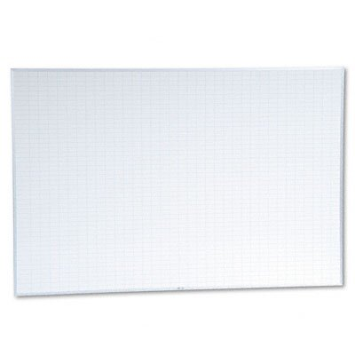 Magna Visual, Inc. Planning Board, 1 x 2 Grid, Porcelain-on-Steel, 72 x 48, Blue/White