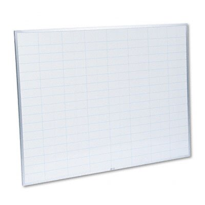 Magna Visual, Inc. Planning Board, 2 x 3 Grid, Porcelain-on-Steel, 48 x 36, Blue/White