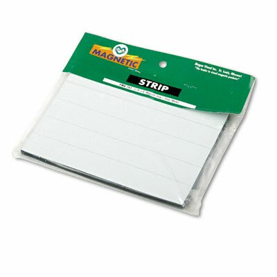 Magna Visual, Inc. Magnetic Write-On/Wipe-Off Pre-Cut Strips 6 x 7/8, White, 25 per Pack
