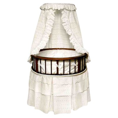 <strong>Badger Basket</strong> Elegance Bassinet with Eyelet Bedding