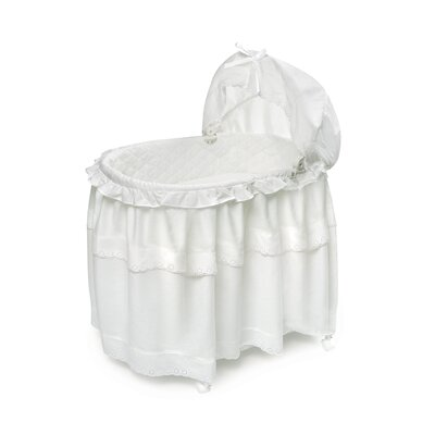 Badger Basket Batiste Bassinet with Floor Long Skirt