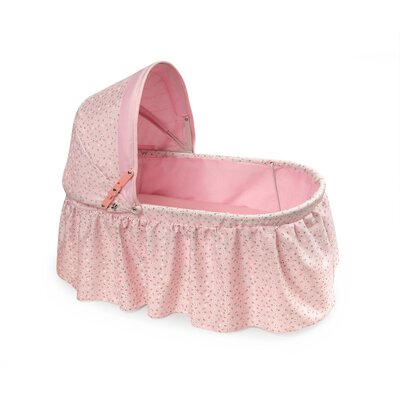 Badger Basket Folding Doll Cradle with Rosebud Fabric