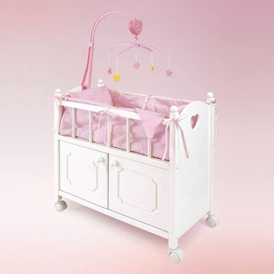 Doll Crib with Cabinet