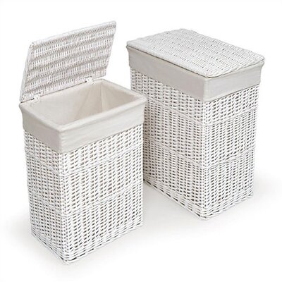 Badger Basket Wicker Hampers (Set of 2)