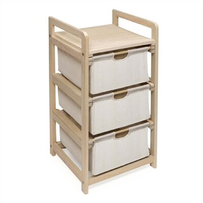 Badger Basket 3 Drawer Hamper/Storage Unit