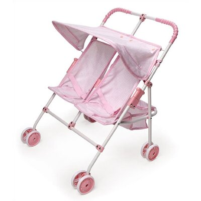 Double Umbrella Doll Stroller
