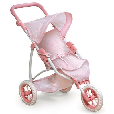 Three Wheel Doll Jogging Stroller for 22
