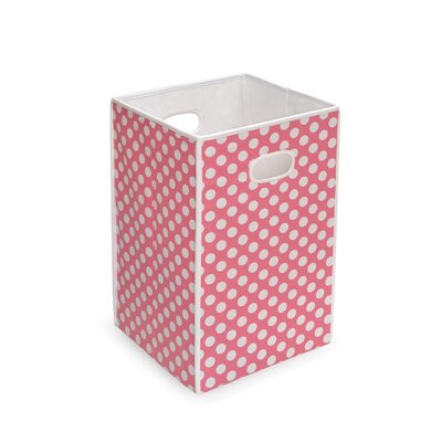 Badger Basket Folding Hamper/Storage Bin in Polka Dot