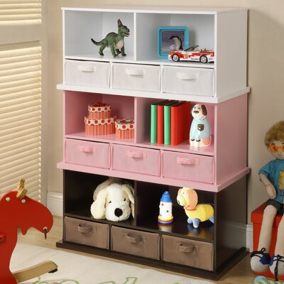 Badger Basket Shelf Storage Cubby with 3 Baskets