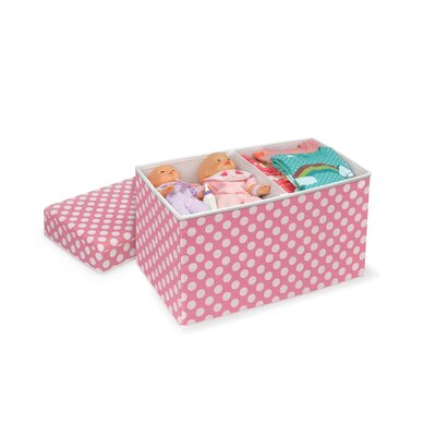 Badger Basket Double Folding Storage Seat in Polka Dot