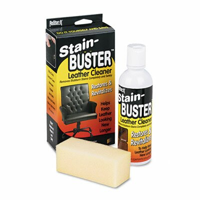 Master Caster Company Leather Cleaner With Synthetic Sponge, Bottle