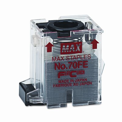 Max USA Corp Staple Cartridge For Eh-70F Flat-Clinch Electric Stapler, 5000/Box