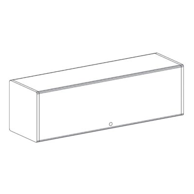 "Maxon Furniture Overhead Storage, 48"" Wide, Gray"