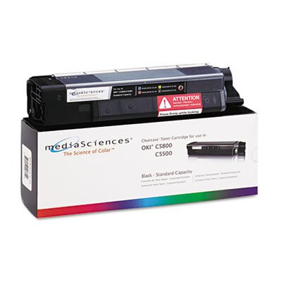 Media Sciences® MSOK5855KSC (43381904) Toner Cartridge, Black