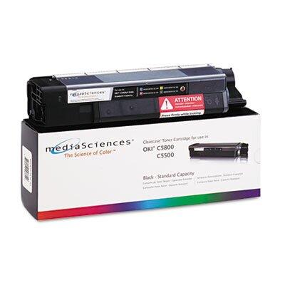 Media Sciences® MSOK5855KSC (43381904) Toner Cartridge, Black