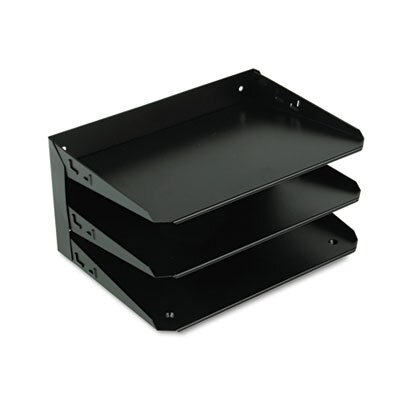 MMF Industries Steelmaster Multi-Tier Horizontal Letter Organizers, Three-Tier, Steel, Black