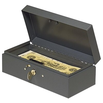 Cash Box, Piano Hinges, Key Entry, 10-1/4