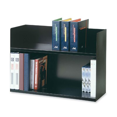 "MMF Industries Two Tier Book Rack, 29-1/8""x10-3/8""x20"", Black"