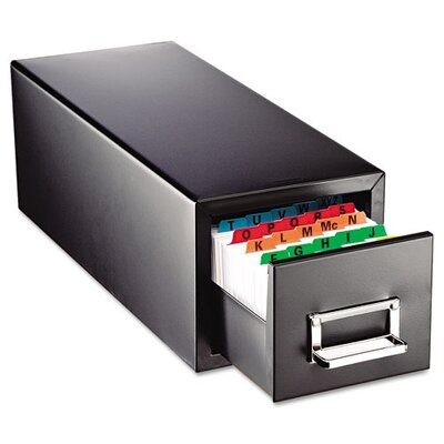 MMF Industries Steelmaster Drawer Card Cabinet Holds 1,500 4 X 6 Cards