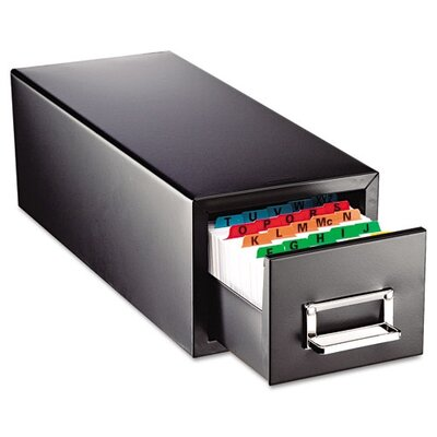 MMF Industries Steelmaster Drawer Card Cabinet Holds 1,500 5 X 8 Cards