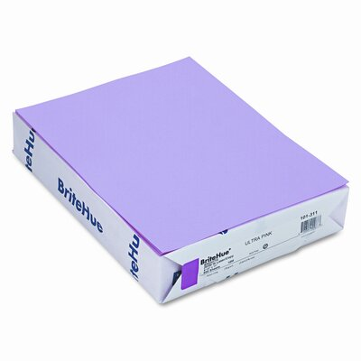 Mohawk Fine Papers Brite-Hue Color Copy/Laser/Inkjet Paper, Ultra Pink, 20lb, Letter, 500 Sheets
