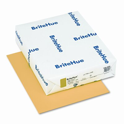 Mohawk Fine Papers Brite-Hue Color Copy/Laser/Inkjet Paper, Ultra Lime, 24lb, Letter, 500 Sheets