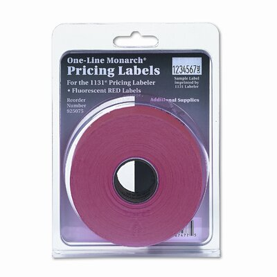Monarch Marking  One-Line Easy-Load Pricemarker Labels, 7/16 x 7/8, Red, 2500/Card