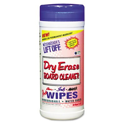 MOTSENBOCKERS LIFT-OFF Dry Erase Cleaner Wipe, 30/Canister