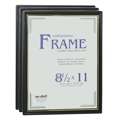 Nudell Plastics Document Plastic Picture Frame (Set of 3)