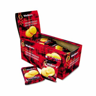 Office Snax Walker's Shortbread Highlander Cookies, 2-Pack, 12 Packs/Box