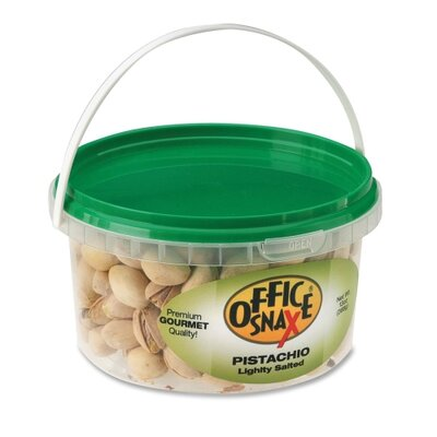 Office Snax Pistachio Nuts, 13 oz. Tub