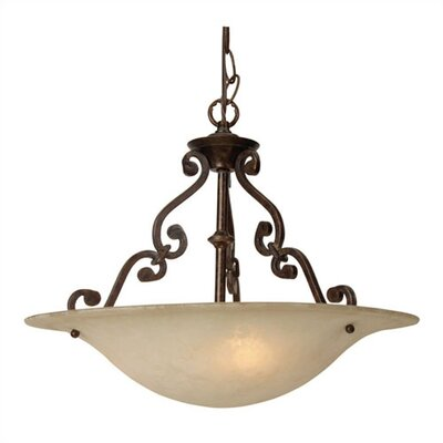 Scroll 3 Light Inverted Pendant