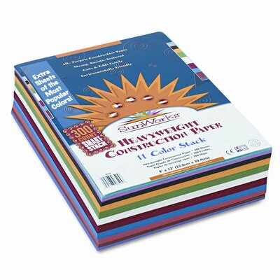 Pacon Corporation SunWorks Smart-Stack Construction Paper, 9 x 12, Assortment, 300 Sheets                                                      