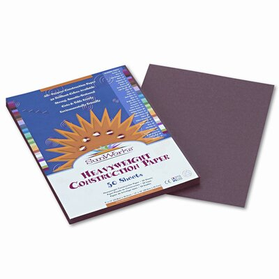 Pacon Corporation SunWorks Construction Paper, Heavyweight, 9 x 12, Dark Brown, 50 Sheets