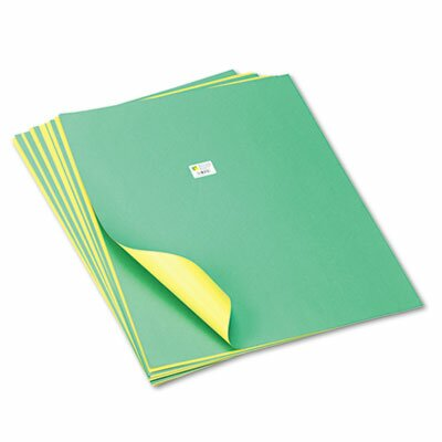 Pacon Corporation Tandem Tones Poster Board, 14 pt., 22 x 28, Green/Yellow, 25 Sheets/Carton