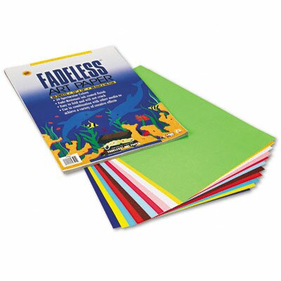 Pacon Corporation Fadeless Assorted Colors Paper, Easy Fold, 12 x 18, 60 Sheets