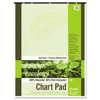 Pacon Corporation S.A.V.E Recycled Chart Pad, Unruled