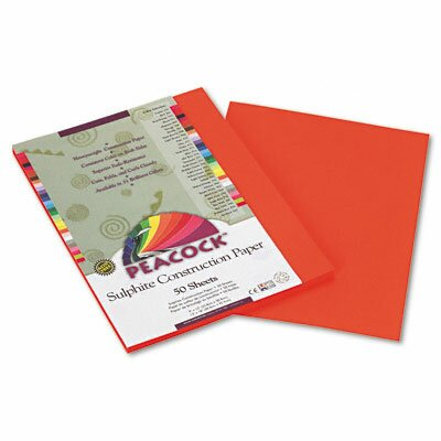 Pacon Corporation Peacock Sulphite Construction Paper, Rigid, 9 x 12