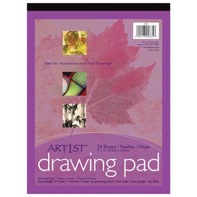 Pacon Corporation Art1st Drawing Pad 9x12 24 Sht Wht