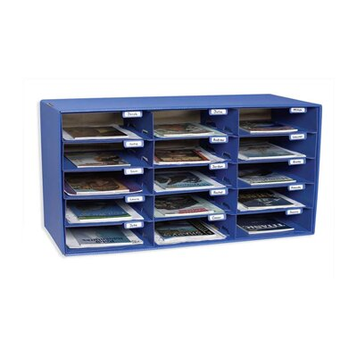 Pacon Corporation Mail Box - 15 Mail Slots Blue